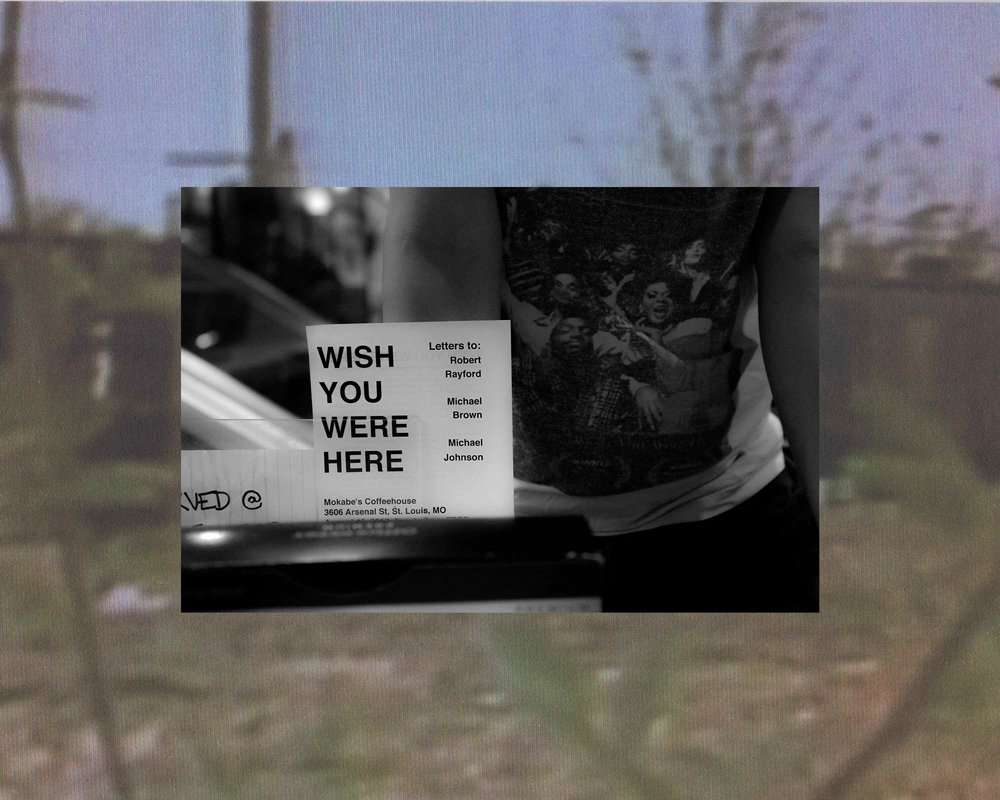 Wish You Were Here, from the series Rayford Home 1987, lenticular print in collaboration with Jun Bae, 2016 DePaul Art Museum permanent collection