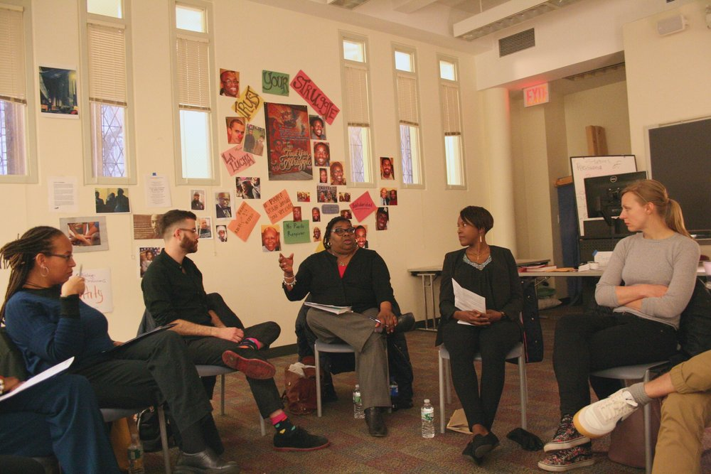 HAVE YOU BEEN VULNERABLE TODAY?  Seasoned activists Rusti Miller-Hill, Dethress Ulmer-Lesley and Fortunata Kasege offered powerful views of the ongoing HIV crisis. The welcoming and participatory gathering found the women leading a discussion around intimate partner violence, incarceration re-entry, trauma, parenthood, faith and disclosure. Active in this conversation were ideas around unity, community and disclosure. Have you been vulnerable today? How have you been made vulnerable? How do you act in solidarity? What is at stake for you? What does love in action look like for you? I organized the event with members of the Positive Women's Network including Miller-Hill, Ulmer-Lesley and Olivia Ford, April 2015.