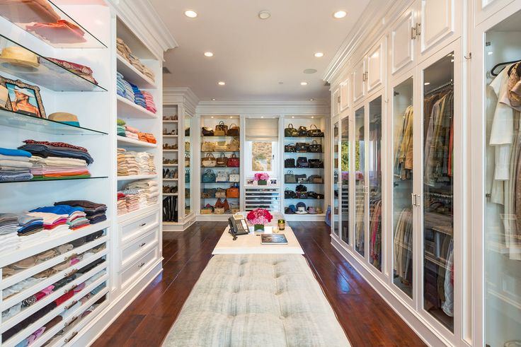 Real housewife Yolanda Foster's Malibu home walk in closet is so PRETTY we could live in it!