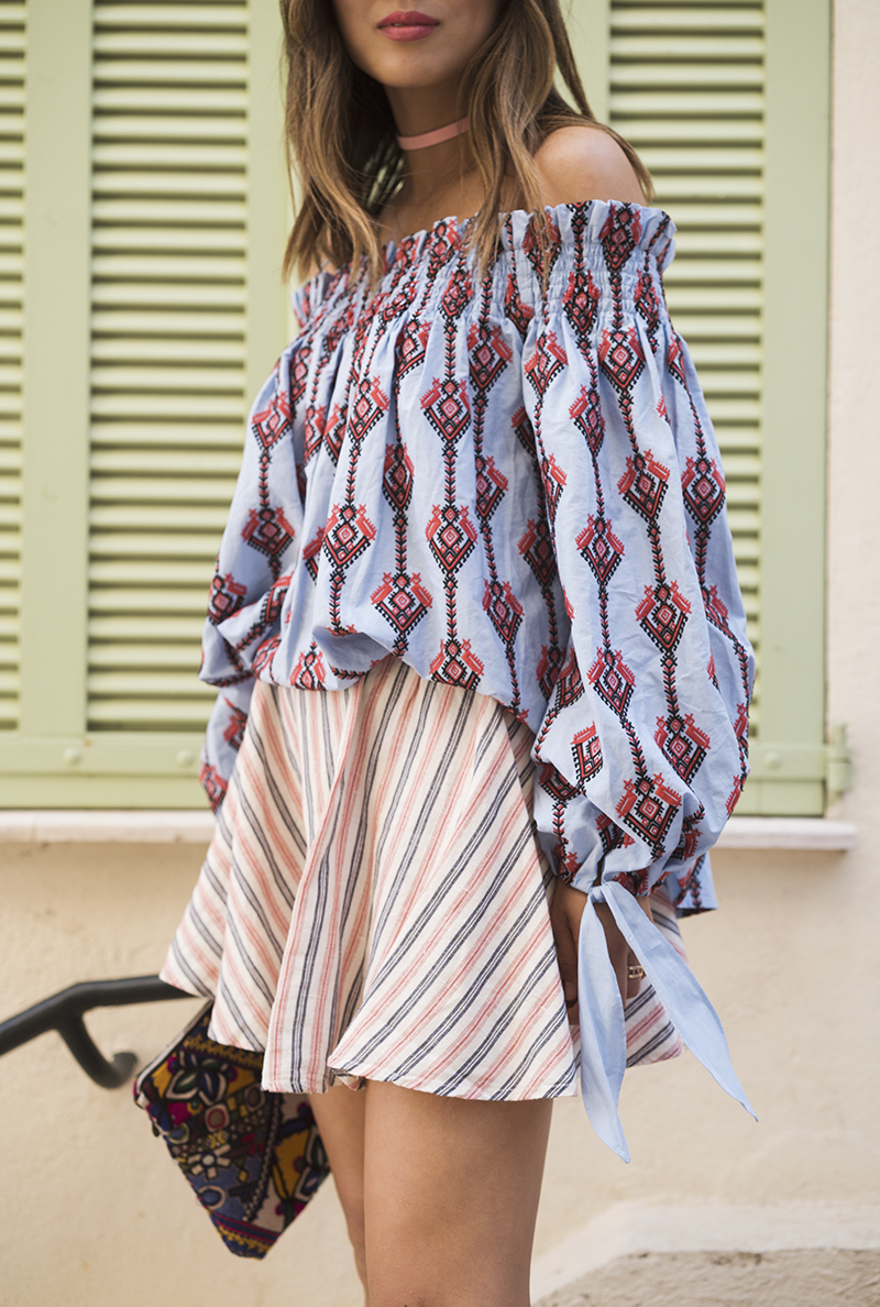 Caroline Constas Top on blogger Song of Style