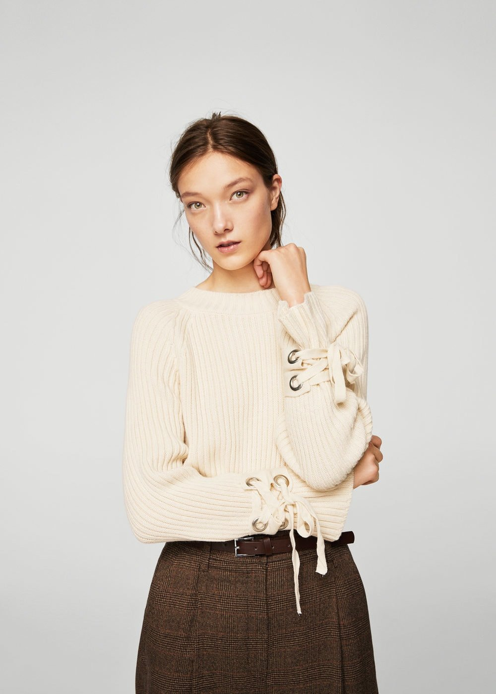 Bow textured sweater - 89.99 CAD