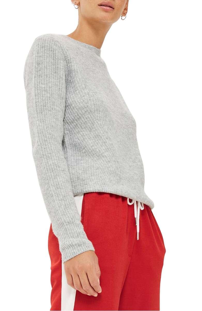 Ribbed Crewneck Sweater - 73.56 CAD