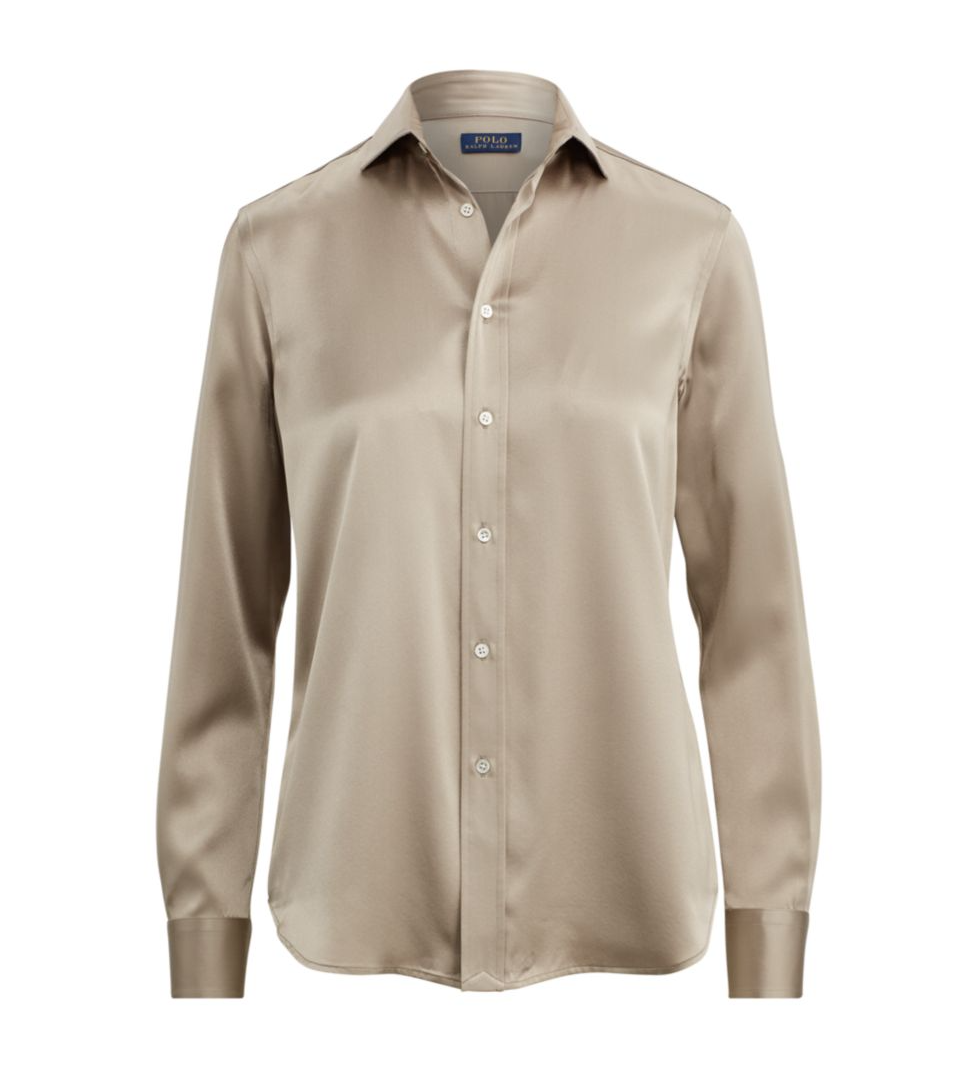 Ralph lauren button silk button down