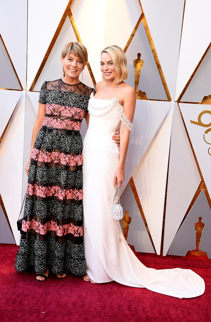 Margot Robbie wearing Chanel with her beautiful mom