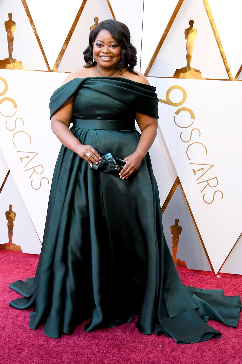 Octavia Spencer wearing Brandon Maxwell