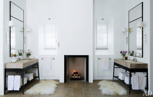 Inspirations Architectural Bath Vanity Luxurious Bathrooms With Fireplaces.
