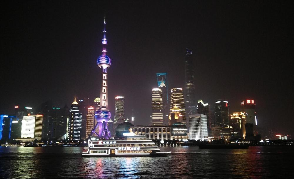 Night time by the Huangpu River is a great time to hear some of Shanghai's signature sounds.