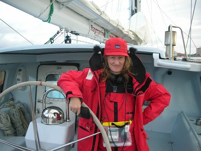 Weariing hat-mounted binaural mics in an attempt to record while sailing across the South Atlantic .