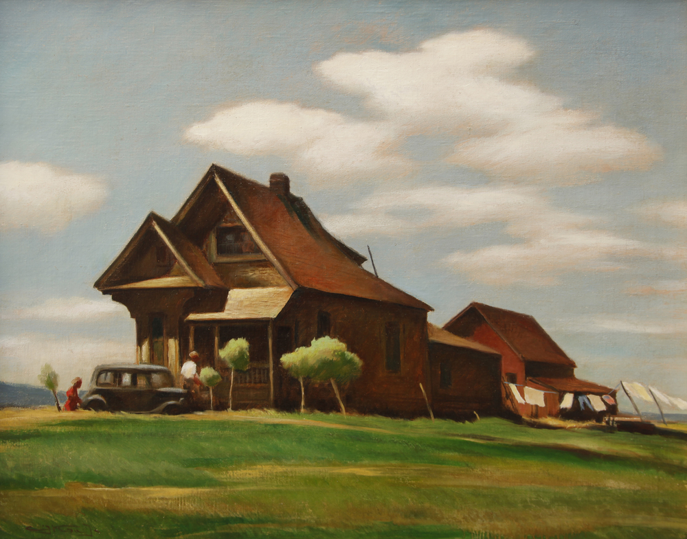 "Emil Kosa Jr., ""Near Modesto,"" 1940.  Oil, 22 x 28 in."