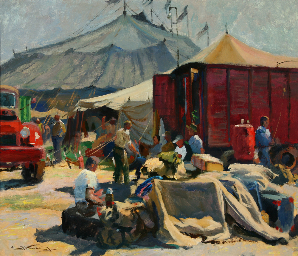 "Emil Kosa Jr., ""The Big Top,"" 1951.  Oil, 24 x 28 in."