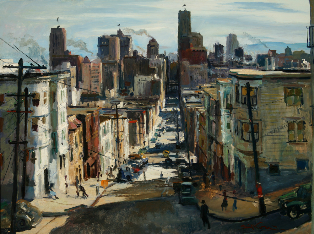 "Emil Kosa Jr., ""San Francisco,"" 1942.  Oil, 30 x 40 in."