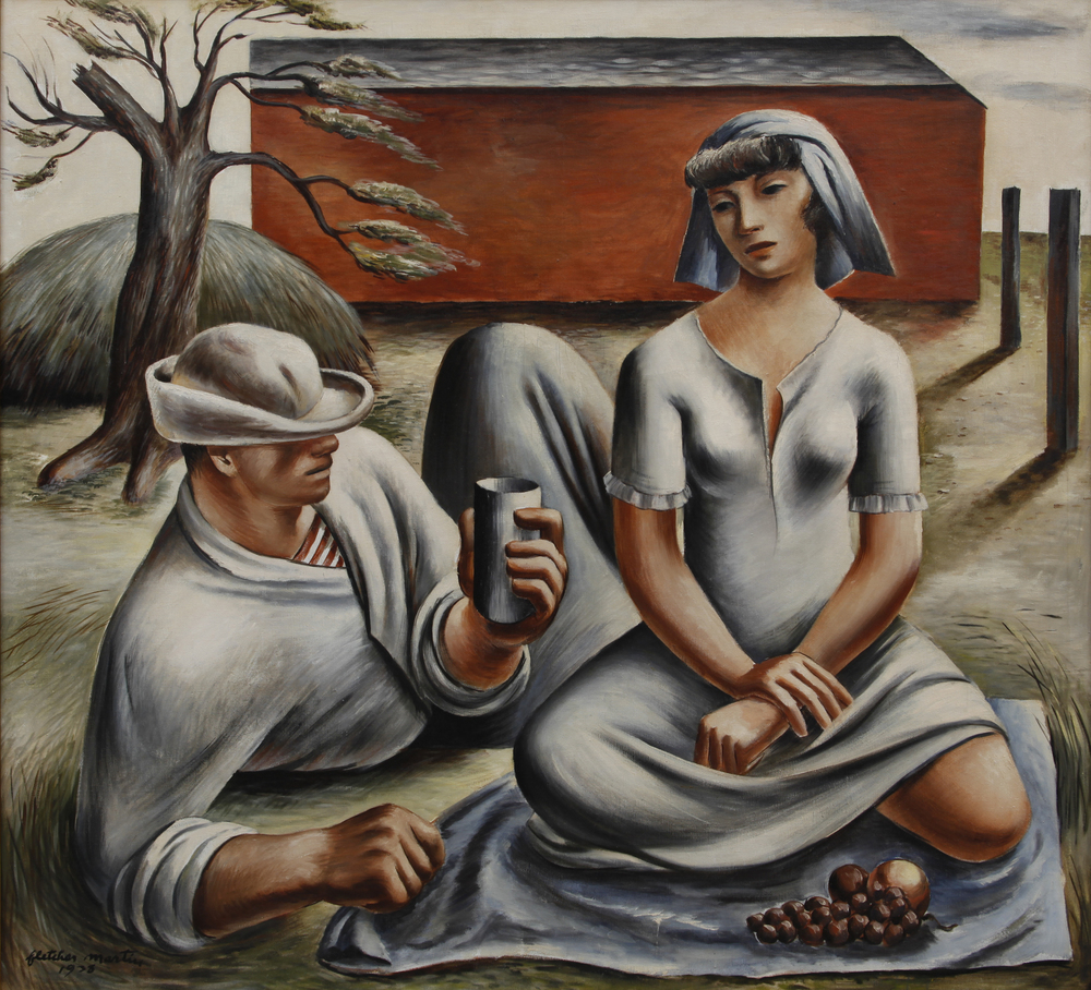 "Fletcher Martin, ""Bucolic,"" 1938.  Oil, 48 x 52 in."