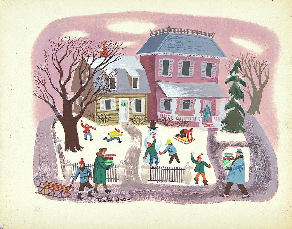 Christmas Card Designs of Disney Artist Ralph Hulett Debut at ...