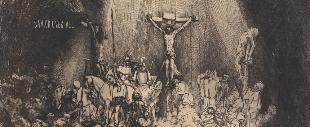 """The Three Crosses"" -Rembrandt van Rijn (title added)"