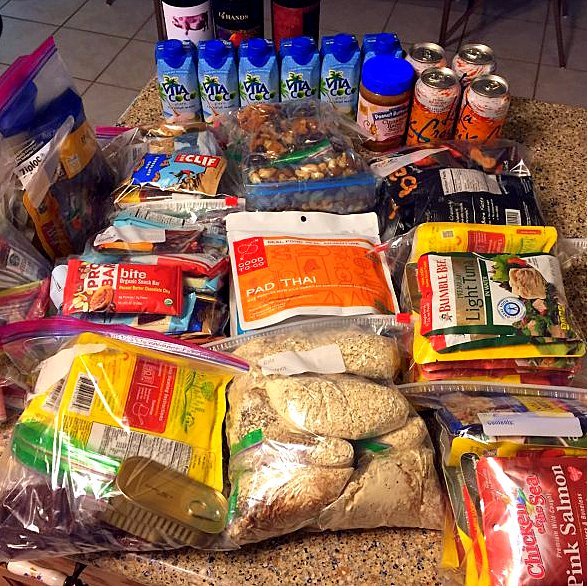 All of the food I will be consuming over twelve days.