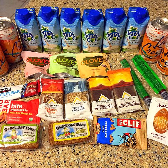 Realistically, this is probably not enough car food. Not because of calories or nutrition needs, but because driving can be really boring and it's fun to eat in the car. I tried to get some variety here. Gas station coffee will be a delight.