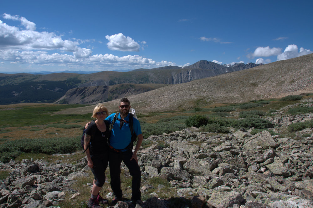 """This was one of those """"test"""" hikes. Mount Audubon in Colorado. Just days after we had married. It was a fun and successful day, but man, was my hamstring sore after. I think during this hike, I felt quite strong but was alarmed at how painful sitting was for the next few days."""