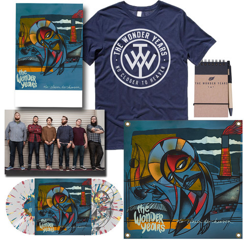 BELOW: Preorder package featuring posters, flag, photo, vinyl album and shirt.