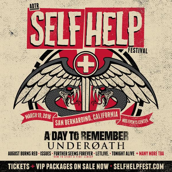 ABOVE: 2016 & 2014 INSTAGRAM & WEB PROMO FOR SELF HELP FEST in SAN BERNARDINO , CALIFORNIA