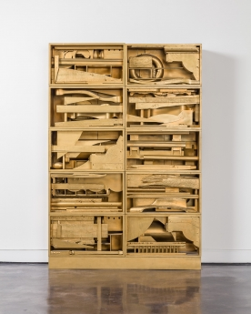 Louise Nevelson, Royal Tide III, wood painted construction. Image courtesy of Locks Gallery.