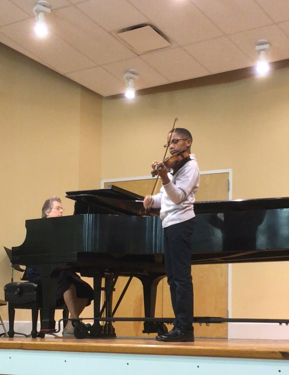 Semaj Murphy performing at the Germantown Branch.
