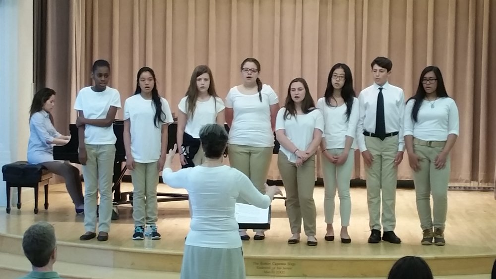 The Senior Singers of the Gleeksman-Kohn Children's Choir at the Mary Louise Curtis Branch, conducted by Rae Ann Anderson.