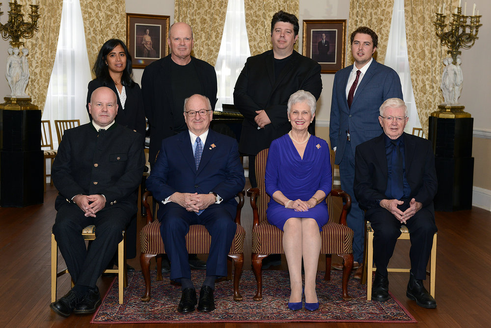 Their Honours Arthur J. LeBlanc and Patsy LeBlanc with all award recipients Photo:  Government House