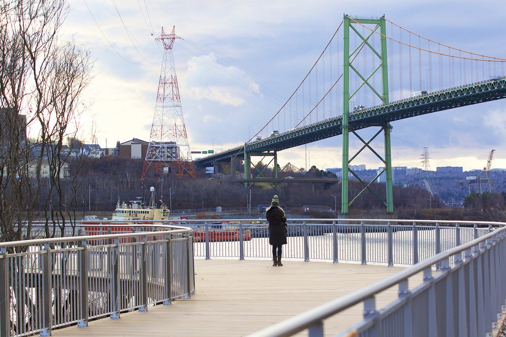 Visitors get a unique view of the MacKay Bridge not possible from anywhere else in the city.