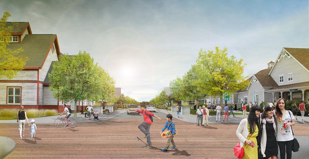 Gateway Village is developed to be the Main Street of Borden-Carleton, creating a vibrant core.