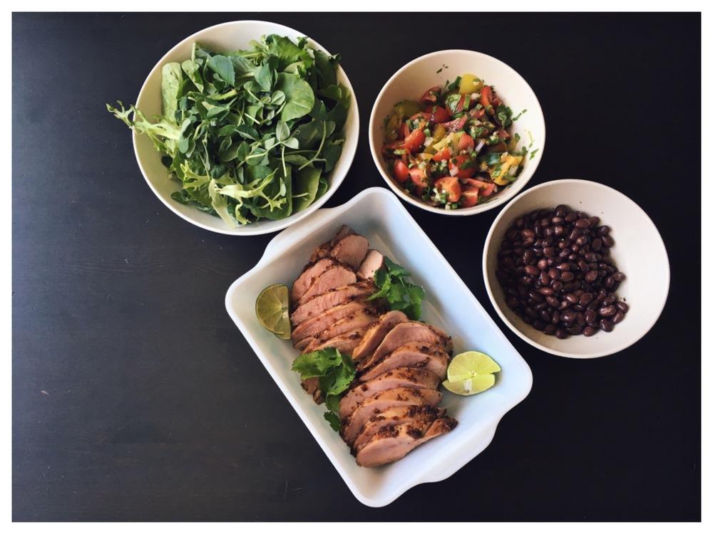 chiptole pork taco bowls | curtis stone