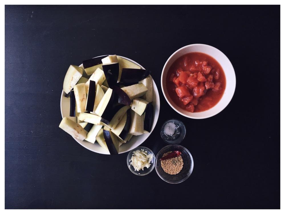 Madhur Jaffrey | eggplant and tomato