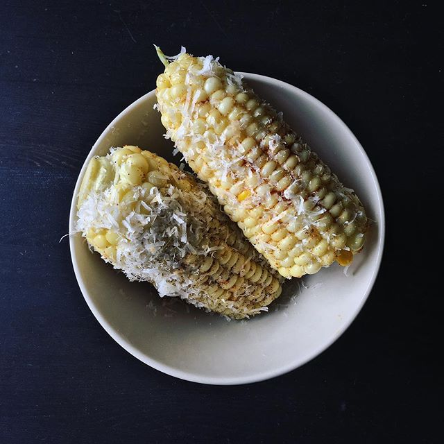 Elote for dinner. Happy place right now 🌽🌽🌽 #summer #elote #feedfeed #lifeandthyme #food52 #f52grams #foodstagram #mywonbowl #notpaleo