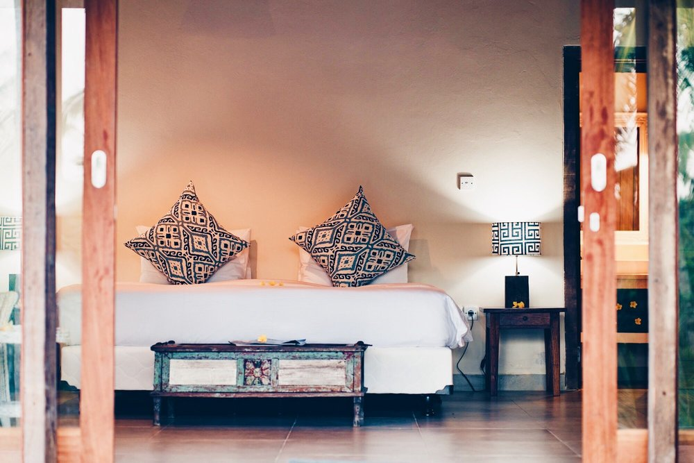 Lakshmi (Single) - Private (1 bed) optionPrivate deck with outdoor chairs and tableFine cotton bed linenCustom designed organic spa products including shampoo, conditioner, body wash and moisturizerFiltered waterNightly turn down serviceCeiling fansIn-room safety deposit box