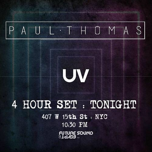The night has arrived! Time to celebrate. Paul Thomas. 4 Hour Journey Set. FSOE UV. Pandamonium. My bday celebration. Last presales online. It will be more at the door. You know how it goes. See ya on the dance floor. 🐼🎵🎶🎶