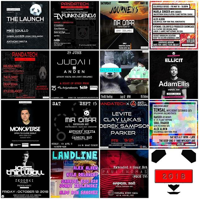 Pretty damn incredible 2018! 💥🍻 Thank you to everyone who has supported the journey! 🤗🐼🎵🎶🎶 If you haven't already, visit our websites and sign up for our email list to stay on top of all our event plans in 2019. Make sure to white list us. You will get discount offers and we promise not to spam you!  www.djgabrielego.com  www.pandamoniumam.com