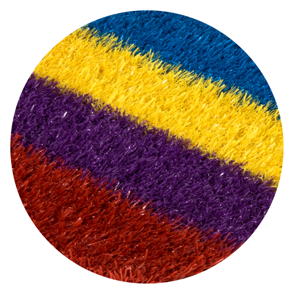 MULTI-COLOURED TURF