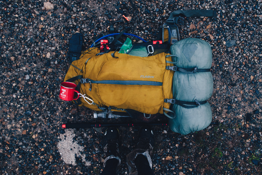 Backpacking gear used by Nathan Chung