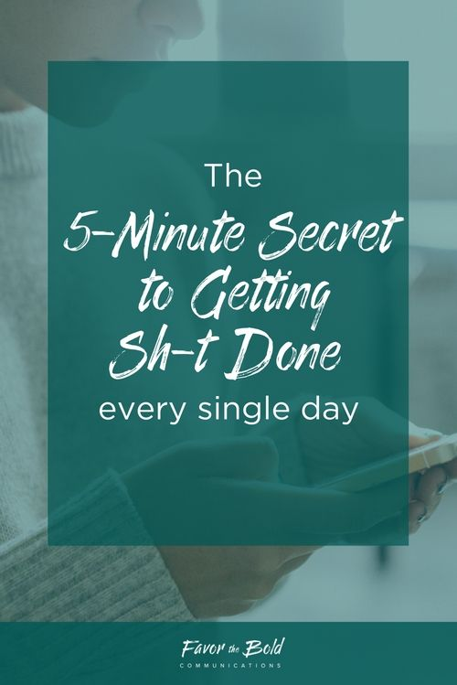 The 5 Minute Secret to Getting Things Done as a Creative EntrepreneurThe 5 Minute Secret to Getting Things Done as a Creative Entrepreneur