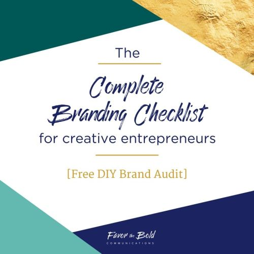 The complete branding checklist for creative entrepreneurs