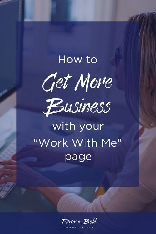 "How to get more business with your ""Work With Me"" page"