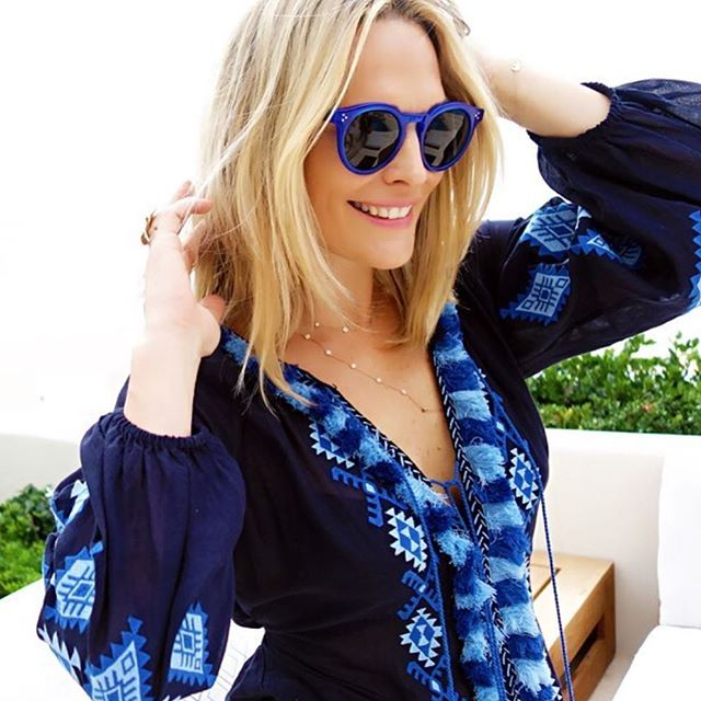 Bohemian blue belle ! 💙 @mollybsims #figuelove #blue #figuedress#summervibes #figue #lookoftheday #mollysims