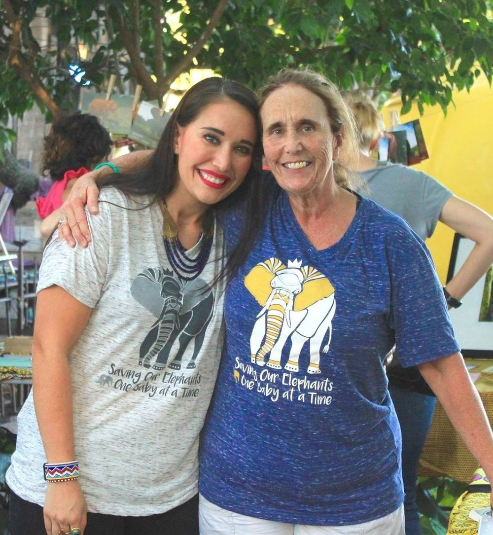 Pamela Leal, right, and daughter meghan work to raise funds for DSWT.