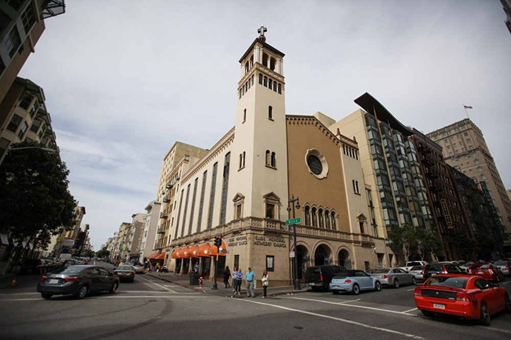 Characterized by its bright orange awnings, Glide has been in the Tenderloin neighborhood in San Francisco since 1931.