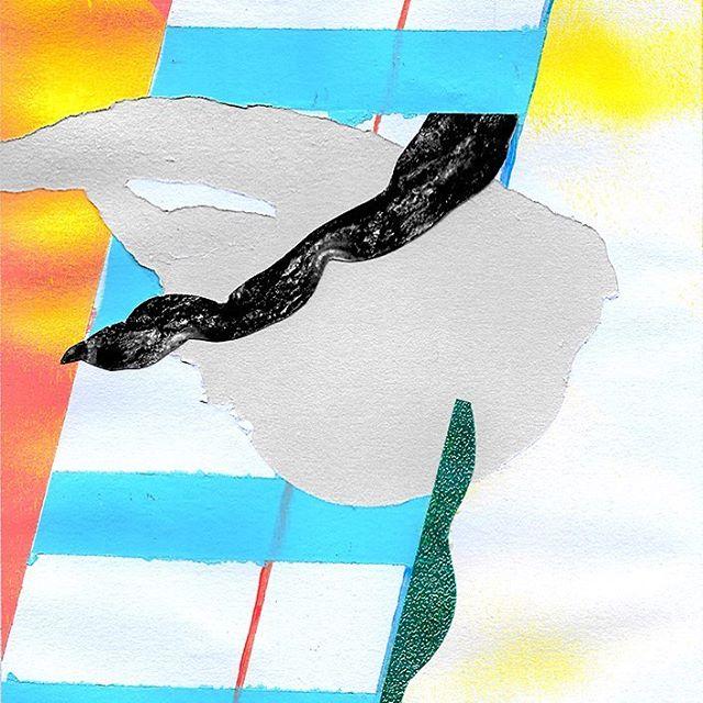 is it a surprise bacon looks pretty nasty in black and white? . . #bacon #color #blackandwhite #art #galleryart #contemporaryart #montana #missoula #collage #frankstella #aprilwerle #design #graphic #artoninstagram #artofvisuals #artoftheday