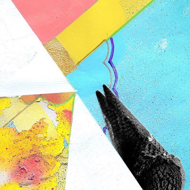 double scoop please! 🦄 . . #mixedmedia #contemporaryart #contemporaryartist #montana #missoula #missoulaartist #food #contemporarypainting #finearts #fineartist #aprilwerle #artdaily #peoplescreative #huffpostart #indiemagazine  #artcollective2017