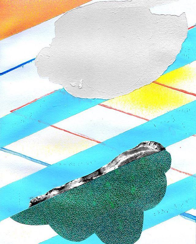 bacon for dayyzzz. 🐷🐽🐷 . . #bacon #pork #thanksgiving #filipinothanksgiving #contemporarypainting #contemporaryart #mixedmedia #artcollective2017 #huffpostart #collage #shiny #aprilwerle #painting #color #design #modernart #shades #blackandwhitephoto @clydecoffee