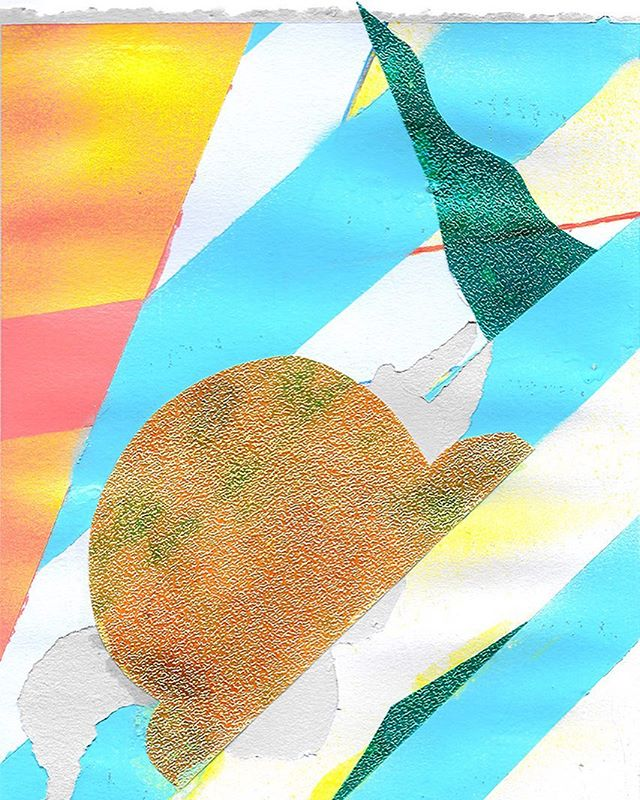 i don't always have bacon with everything... promise. 🤪 . . #contemporarypainting #modernart #mixedmedia #contemporaryart #collage #art #artist #aprilwerle #huffpostarts #juxtapoz #artinamerica #aprilwerle #shiny #shapes #color #artoftheday