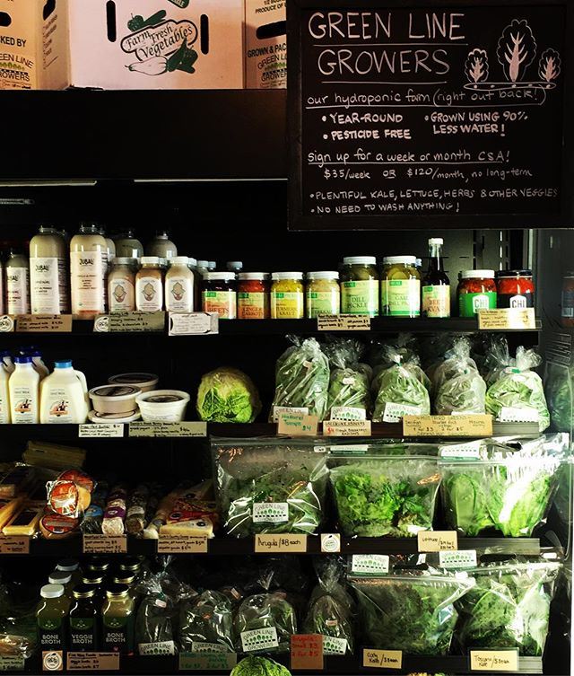 Our fridge @brooklinegrown is stocked and ready for the weekend!!! Stop by for the freshest #salad #romaine #kale #arugula #basil #herbs #notthoseherbs #mustardgreens #turnips most importantly #FREE #radishes tonight with any GLG purchase!