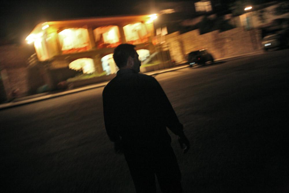 Garnik Arustamyan walks to his workplace, Shushi Revival Fund Organisation in Shushi as he enters the night shift.