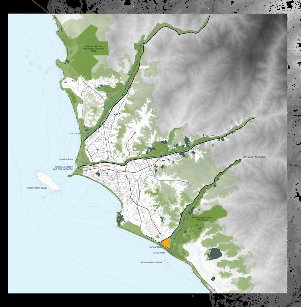Lima: scale plan 1 : 200k